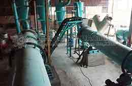 Egypt organic fertilizer production line installation site